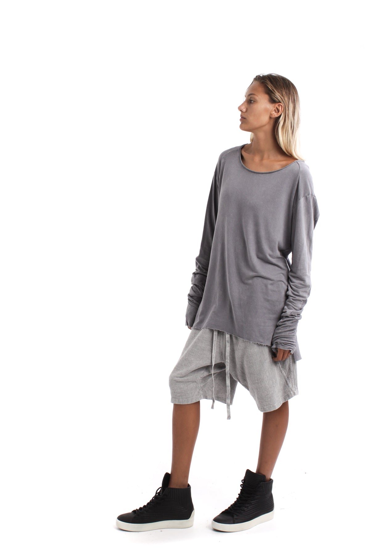 Nordic design, scandinavian design, danish design, grey linen cotton, cotton jumper, luxury cotton jersey, cotton t shirt, grey cotton, oversize cotton top, oversize