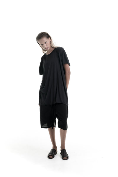 Nordic design, scandinavian design, danish design, black cotton, cotton shorts, luxury cotton shorts, cotton shorts, fine black cotton, oversize cotton top, oversize