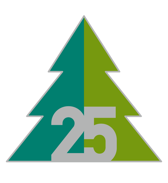 Forestry Journal 25 Year Anniversary Pin Badge