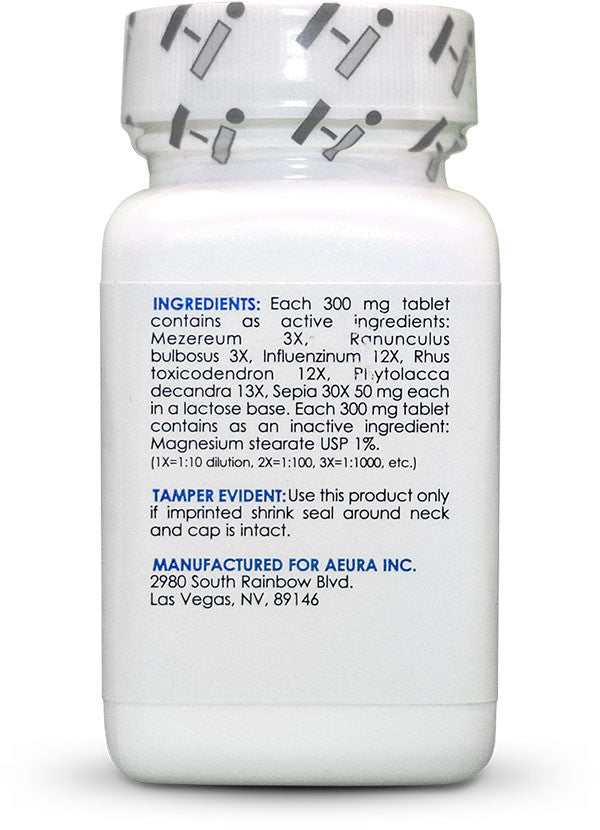 The Shingles Formula - Aeura all-natural non-prescription homeopathic medicine