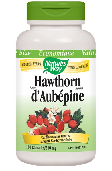 Nature's Way Hawthorn Berries - 180 Count
