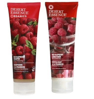 Desert Essence Red Raspberry Shampoo & Conditioner Bundle, 8 fl. oz. each