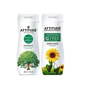 Attitude Volume & Shine Shampoo & Conditioner Bundle, 12 fl. oz. each