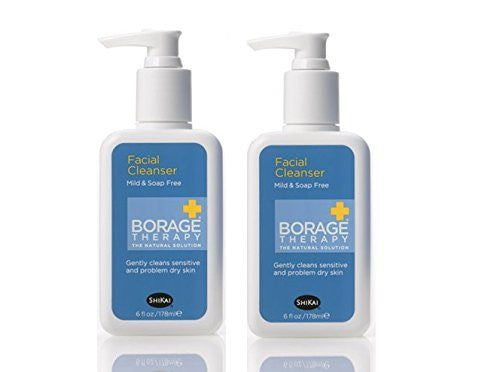 Shikai Borage Therapy Facial Cleanser, 6 fl. oz. (Pack of 2)