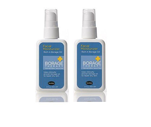 Shikai Borage Therapy Facial Moisturizer, 3 fl. oz. (Pack of 2)