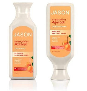 Jason Super Shine Apricot Shampoo and Conditioner Bundle, 16 fl. oz. each