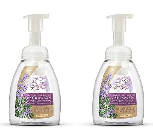 Green Beaver Lavender Rosemary Foaming Hand Soap (Pack of 2) with Certified Organic Lavender Water, Carrot Seed Oil and Rosemary Leaf Oil, Vegan and Cruelty-free, 8.4 oz
