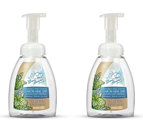 Green Beaver Fresh Mint Foaming Hand Soap (Pack of 2) with Certified Organic Lavender Water, Carrot Seed Oil and Peppermint Oil, Vegan and Cruelty-free, 8.4 oz