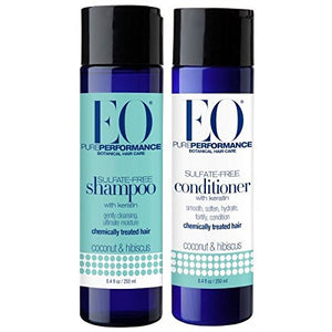 EO Coconut & Hibiscus Shampoo and Conditioner Bundle, 8.4 fl. oz. each