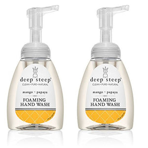 Deep Steep Mango - Papaya Foaming Hand Wash, 8 fl. oz. (Pack of 2)