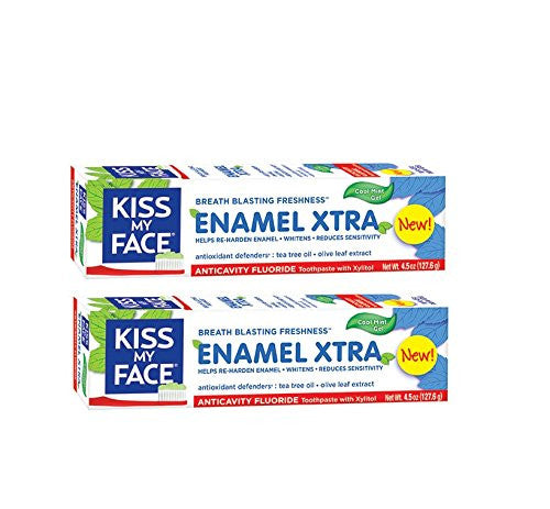 Kiss My Face Enamel XTRA Gel Toothpaste, 4.5 fl. oz. (Pack of 2)