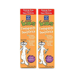 Kiss My Face Berry Smart Kids Toothpaste, 4 fl. oz. (Pack of 2)
