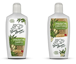 Green Beaver Tea Tree Invigorating Shampoo and Tea Tree Invigorating Conditioner with Certified Organic Aloe Vera Juice, Tea Tree Oil, Eucalyptus Oil, Jojoba Oil and Borage Oil, 10.1 oz each