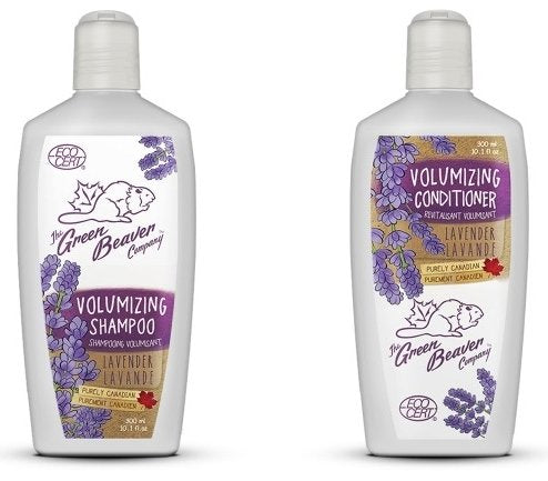 Green Beaver Lavender Volumizing Shampoo and Lavender Volumizing Conditioner with Certified Organic Aloe Vera Juice, Lavender Oil, Rosemary Oil, Jojoba Esters and Borage Oil 10.1 oz each