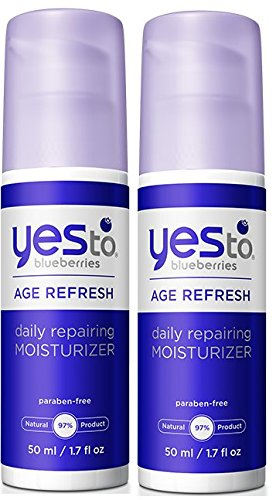 Yes to Blueberries Age Refresh Daily Repairing Moisturizer (Pack of 2) with Shea Butter, Cotton Thistle, Soybean Oil and Olive Fruit Oil, 1.7 fl. oz.
