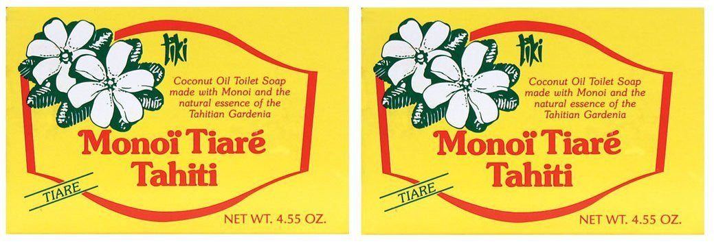 Monoi Tiare Tahiti Gardenia Soap Bar, 4.55 oz. (Pack of 2)