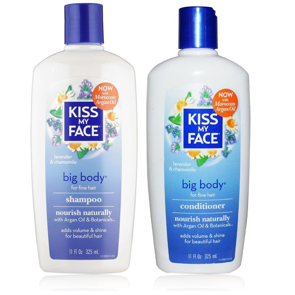 Kiss My Face Big Body Shampoo and Conditioner Bundle, 11 fl. oz. each