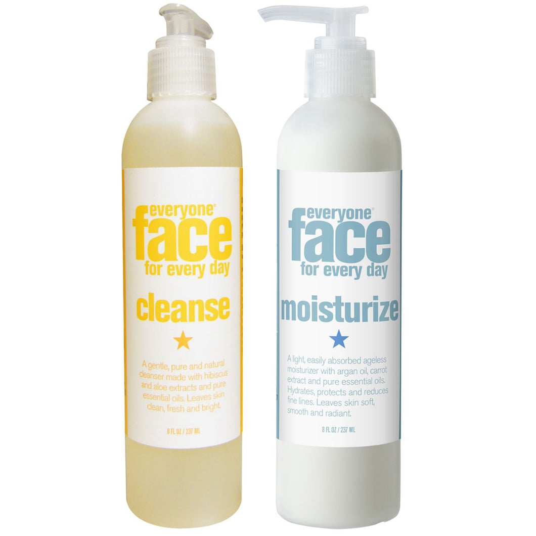 Everyone Face Cleanse Botanical Skincare and Everyone Face Moisturize Botanical Skincare Bundle