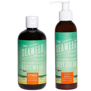 Seaweed Bath Company Citrus Body Wash and Body Cream Bundle, 12 fl. oz. and 6 fl. oz.