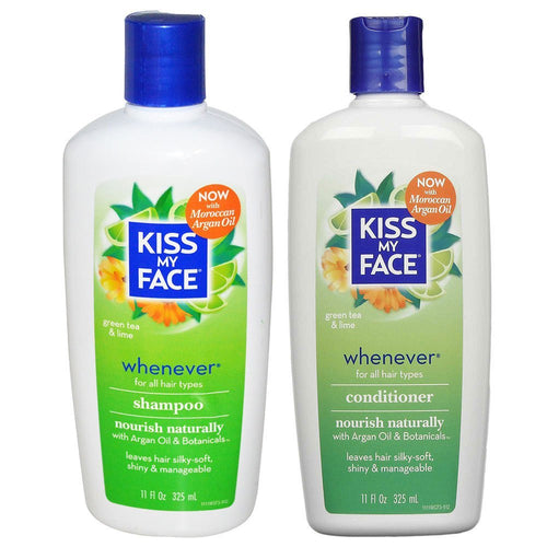 Kiss My Face Whenever Shampoo and Conditioner, 11 fl. oz. each