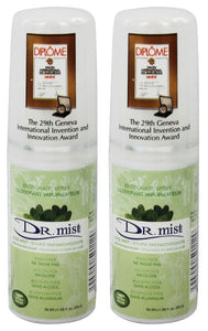 Dr. Mist Cool Mist Deodorant Spray, 1.69 fl. oz. (Pack of 2)