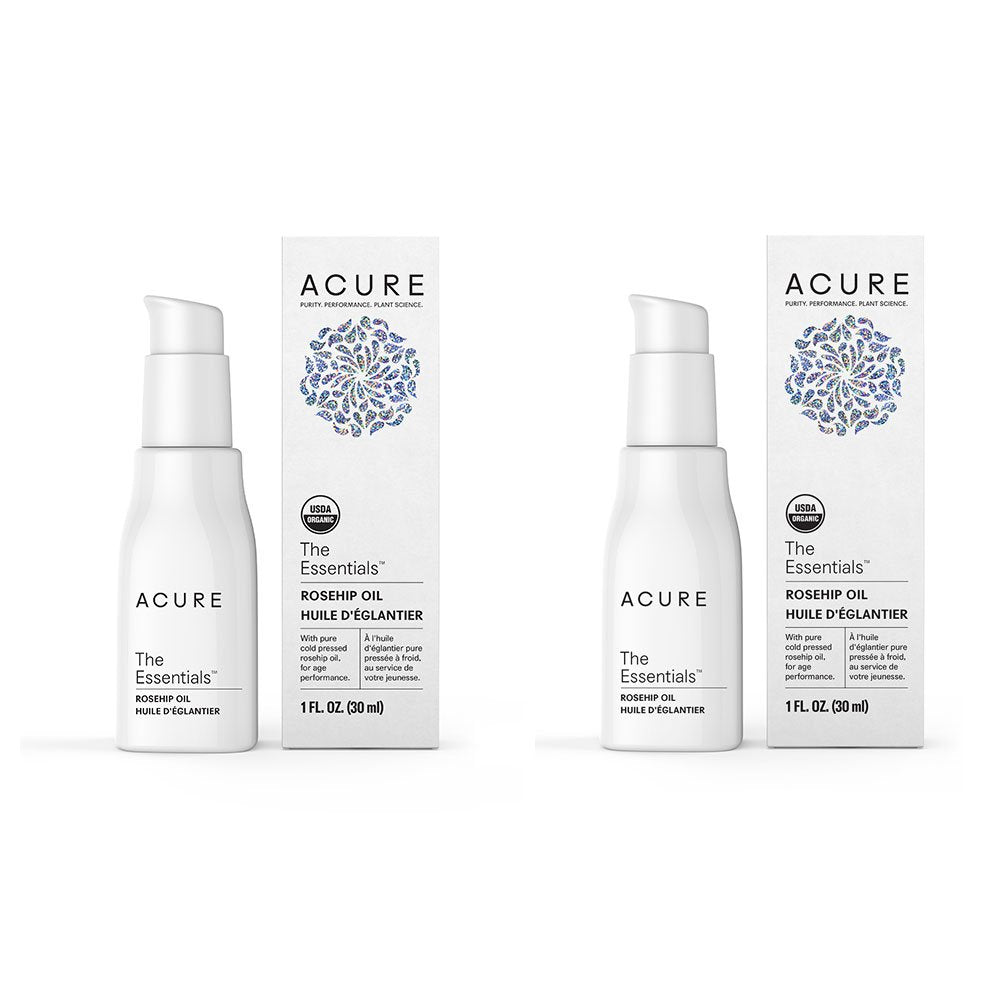 Acure Organics The Essentials Cold Pressed Rosehip Oil For Face and Body, Natural Anti-Aging and Environmental Damage Serum