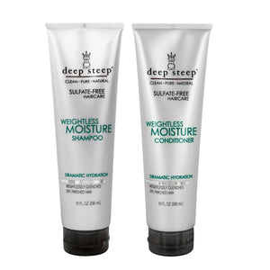Deep Steep Weightless Moisture Shampoo & Conditioner Bundle, 10 fl. oz. each