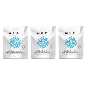Acure Incredibly Clear Sheet Mask (Pack of Three)