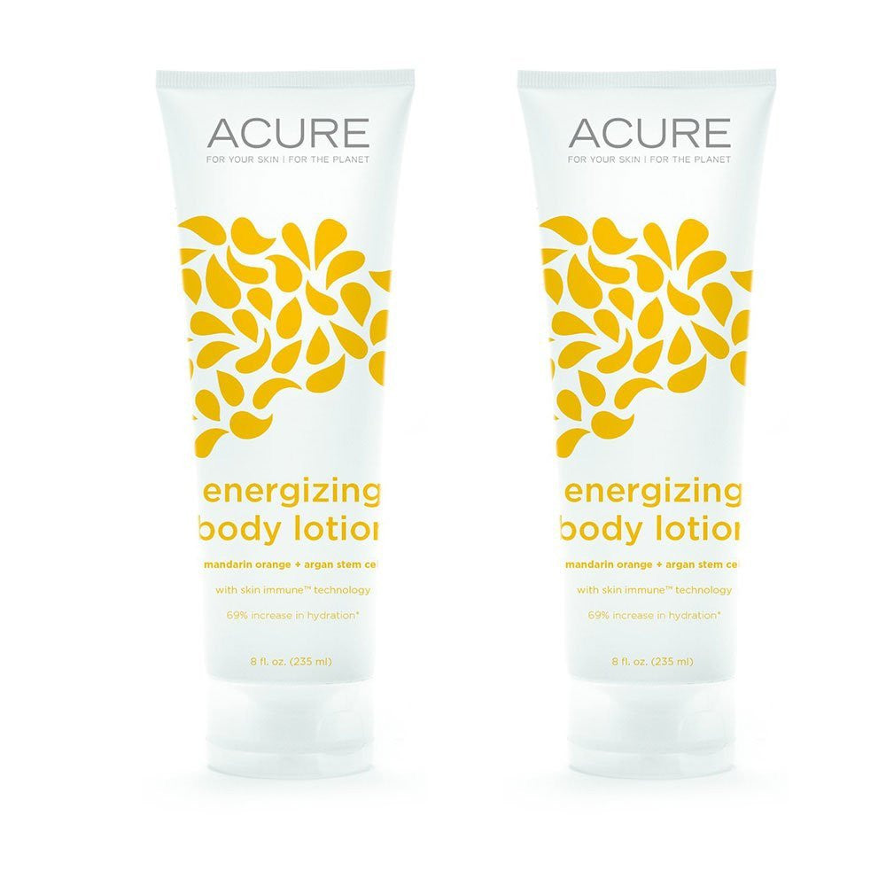 Acure Organics Energizing Body Lotion, 8 fl. oz. (Pack of 2)