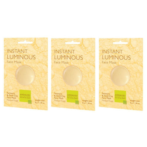 Andalou Instant Luminous Face Mask, .28 fl. oz. (Pack of 3)