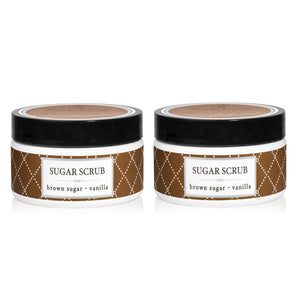 Deep Steep Brown Sugar & Vanilla Sugar Scrub, 8 fl. oz. (Pack of 2)