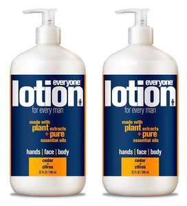 EveryOne Lotion 3-In-1 Cedar and Citrus Lotion for Men (Pack of 2)