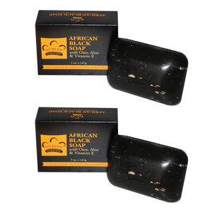 Nubian Heritage African Black Soap, 5 oz. (Pack of 2)