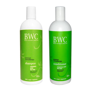 Beauty Without Cruelty Rosemary Mint Tea Tree Shampoo and Conditioner Bundle, 16 fl. oz. each