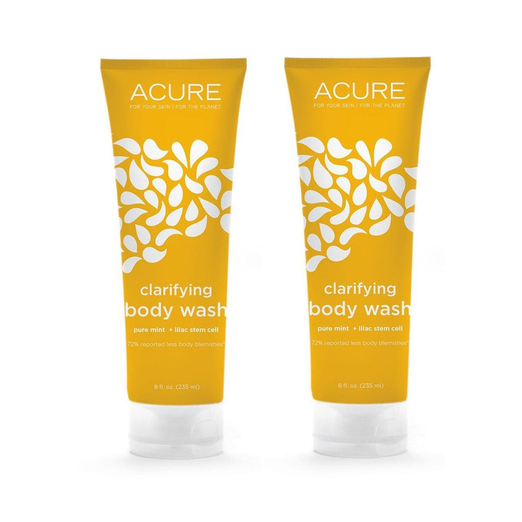 Acure Organics Clarifying Body Wash, 8 fl. oz. (Pack of 2)