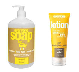 Everyone Coconut & Lemon 3-In-1 Soap and Lotion Bundle