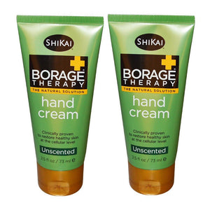 ShiKai Unscented Borage Therapy Hand Cream, 2.5 fl. oz. (Pack of 2)