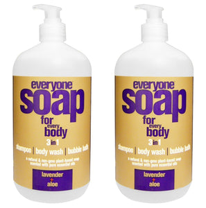 EveryOne Soap Lavender and Aloe Liquid Soap (Pack of 2)