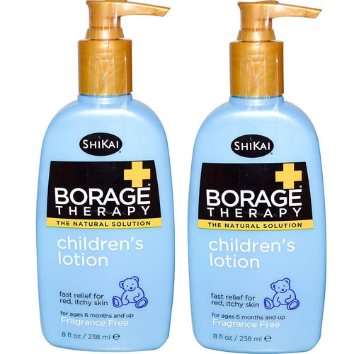 ShiKai BorageTherapy Children's Lotion, 8 fl. oz. (Pack of 2)