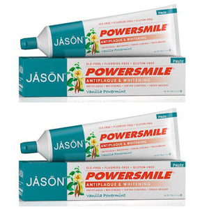 Jason PowerSmile Vanilla Powermint Toothpaste, 6 fl. oz. (Pack of 2)