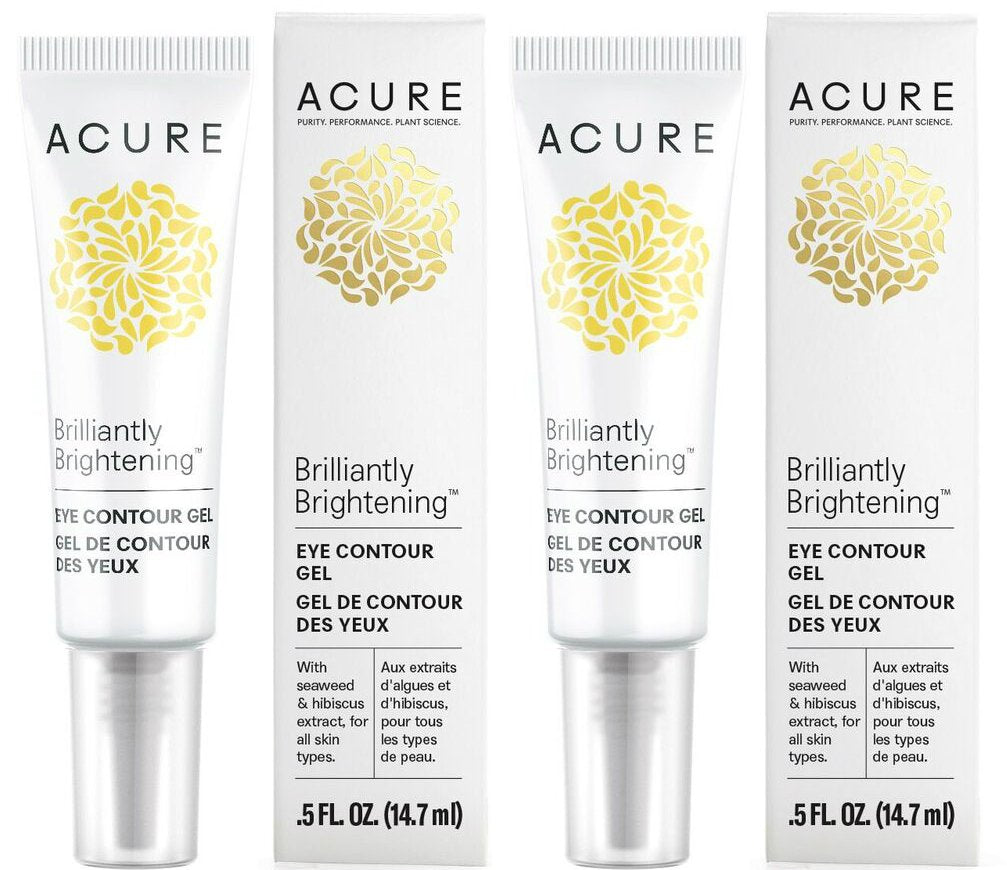 Acure Brilliantly Brightening Eye Contour Gel (Pack of 2)