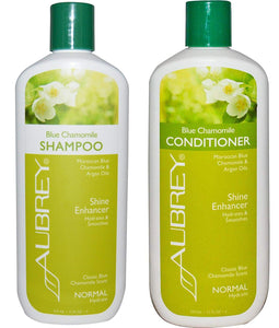Aubrey Blue Chamomile All Natural Organic Shampoo and Hydrating Conditioner Bundle For Normal Hair