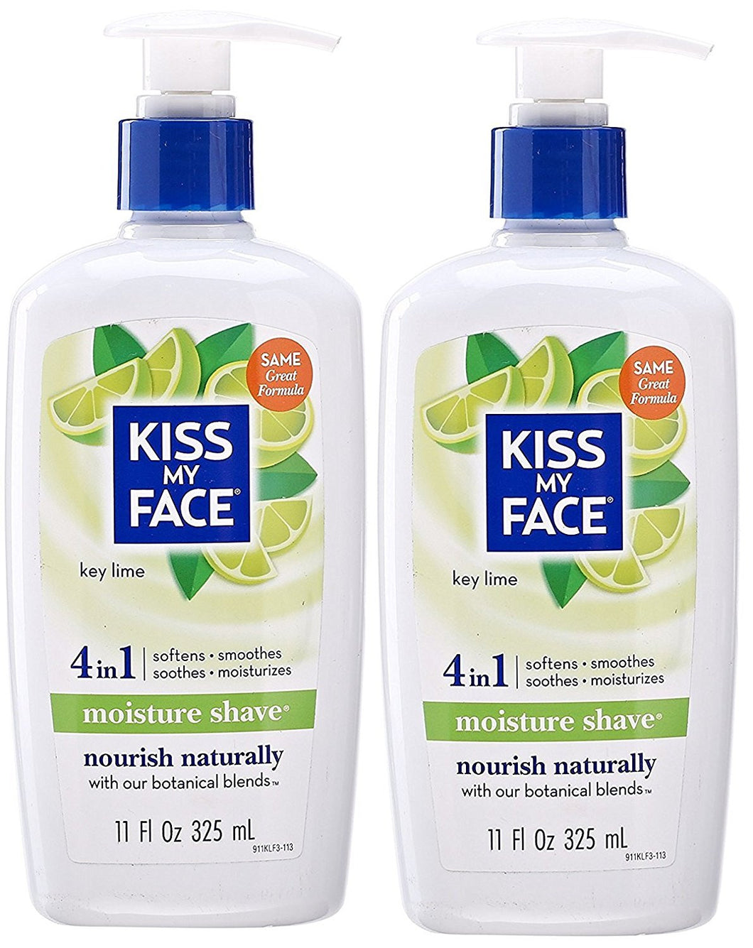 Kiss My Face Key Lime Shaving Cream, 11 fl. oz. (Pack of 2)