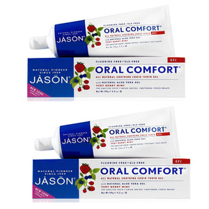 Jason Oral Comfort Non-Fluoride CoQ10 Toothpaste Gel, 4.2 fl. oz. (Pack of 2)