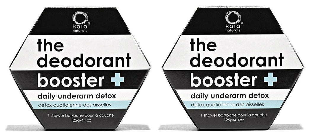 Kaia The Deodorant Booster Bar (Pack of 2) with Coconut Oil, Olive Oil, and Activated Charcoal, 4.4 oz.