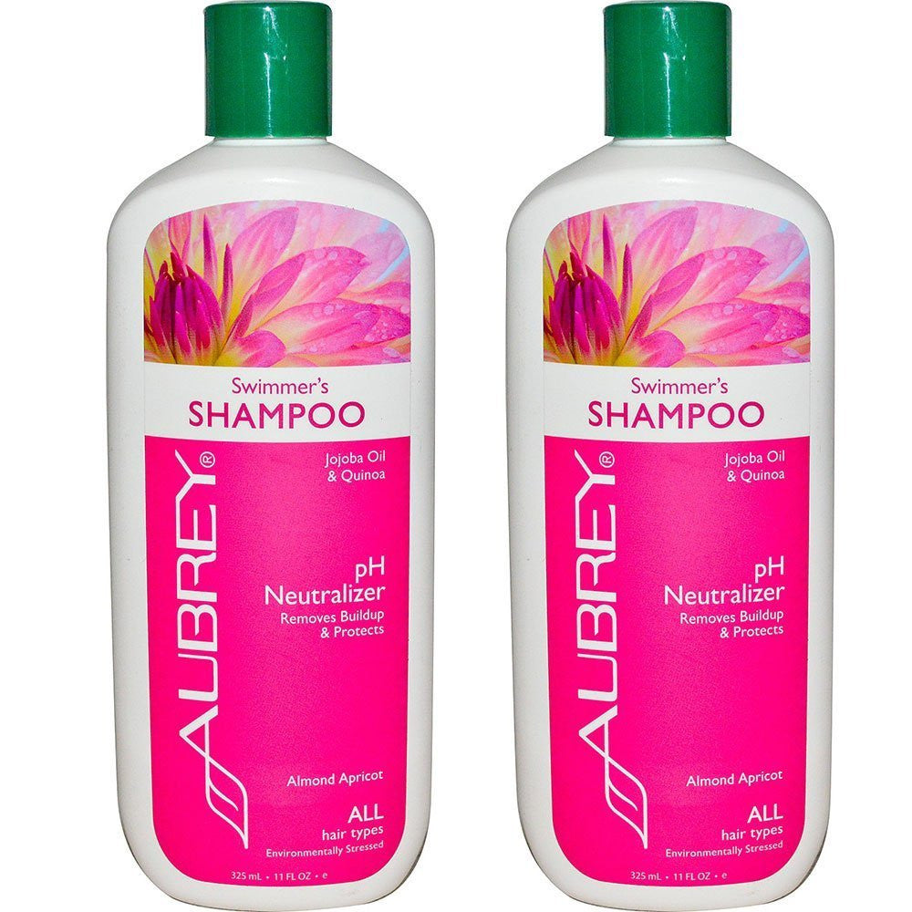 Aubrey Organics Swimmer's Shampoo, 11 fl. oz. (Pack of 2)