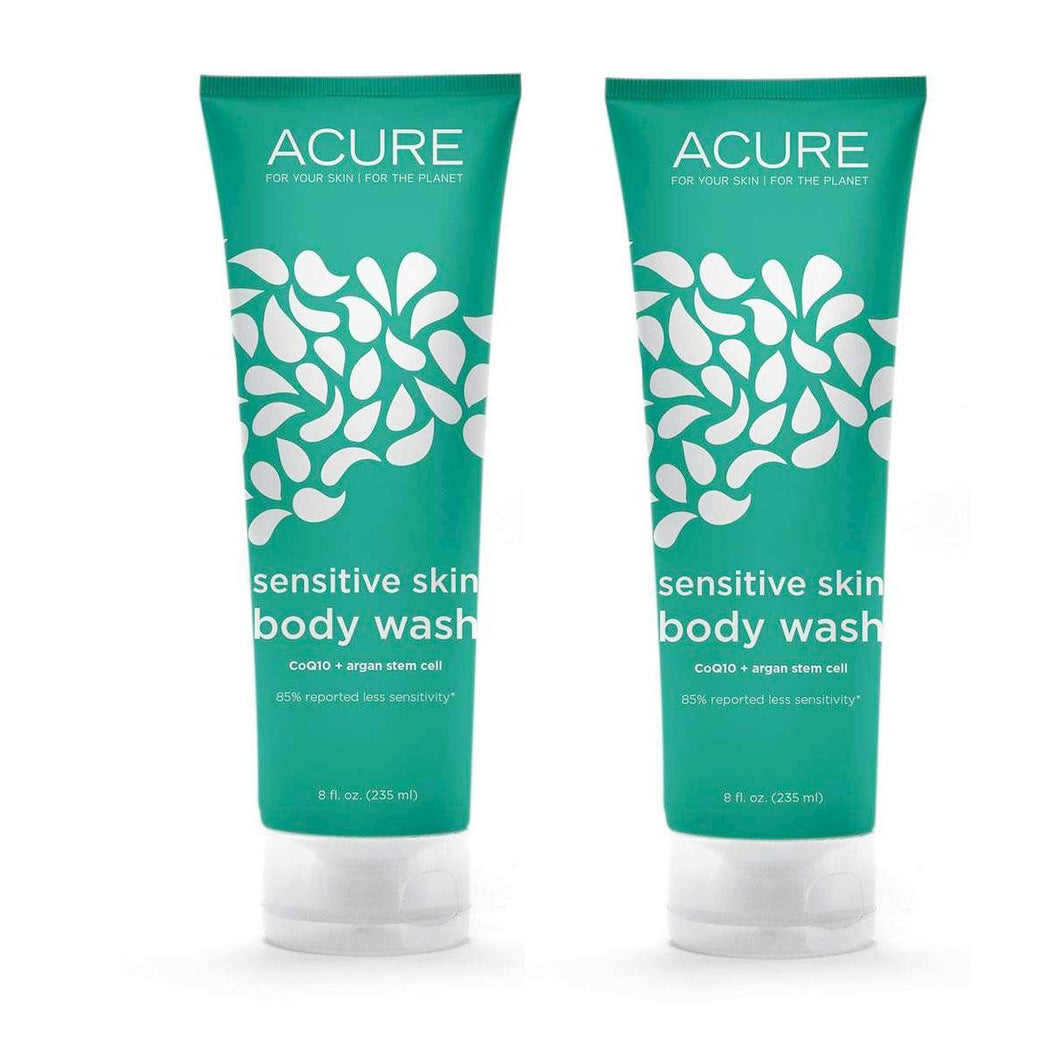 Acure Organics Sensitive Skin Body Wash, 8 fl. oz. (Pack of 2)