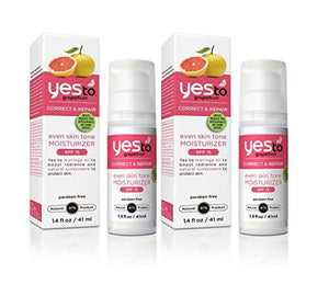 Yes to Grapefruit Moisturizer with Bitter Orange and Grapefruit Extract, 1.4 fl. oz. (Pack of 2)