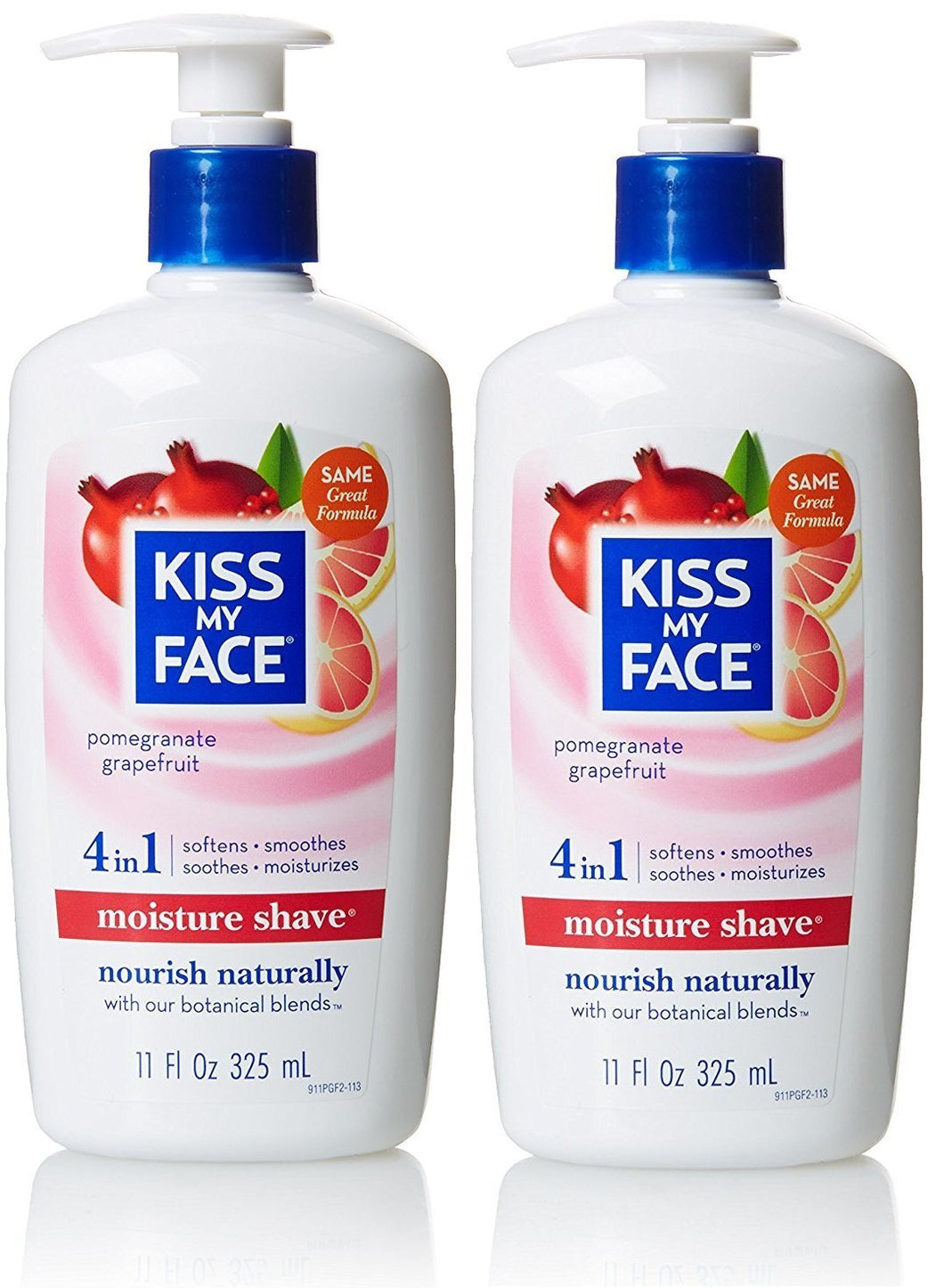 Kiss My Face Pomegranate Grapefruit Shaving Cream, 11 fl. oz. (Pack of 2)