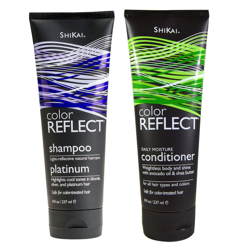 Shikai Color Reflect Platinum Shampoo & Conditioner Bundle, 8 fl. oz. each